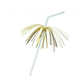 Slámky flexibilní s palmičkou