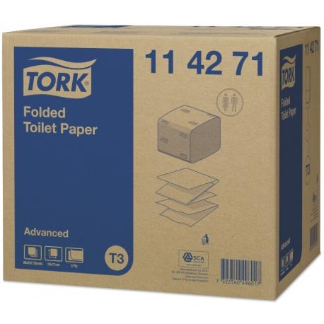 Tork Folded toaletní papír Advanced T3 ( 8712 útržků)