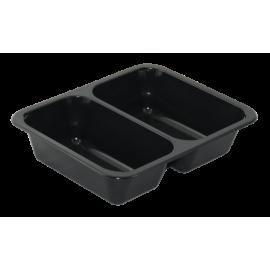 Zatavovací miska 3D černá PP 227x178x50 mm (á50ks)