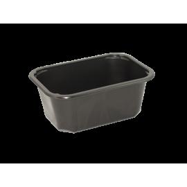 Zatavovací miska hranatá na polévku černá PP 500ml (á420ks)
