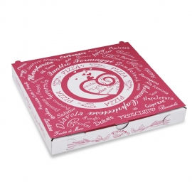 Krabice na pizzu z vlnité lepenky  (PAP) 24 x 24 x 3 cm