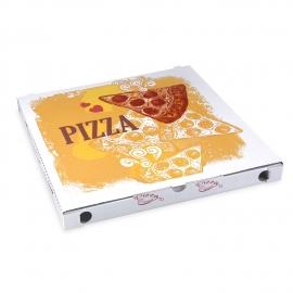 Krabice na pizzu z vlnité lepenky (PAP)  34 x 34 x 3 cm