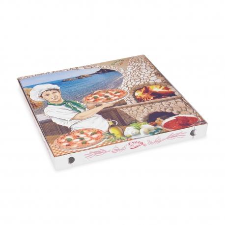 Krabice na pizzu z vlnité lepenky (PAP)  40 x 40 x 4 cm