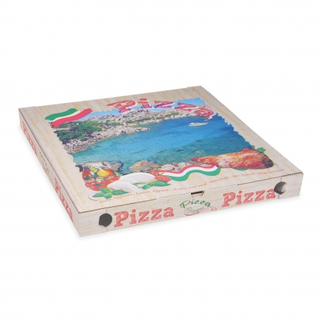 Krabice na pizzu z vlnité lepenky (PAP)  46 x 46 x 5 cm