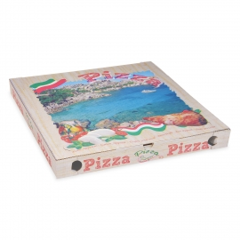 Krabice na pizzu z vlnité lepenky (PAP)  50 x 50 x 5 cm