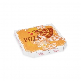Krabice na pizzu z vlnité lepenky (PAP)  26 x 26 x 3 cm
