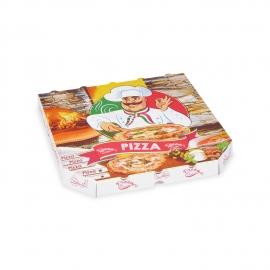 Krabice na pizzu z vlnité lepenky (PAP)  30 x 30 x 3 cm