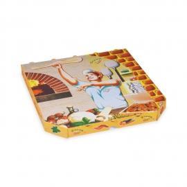 Krabice na pizzu z vlnité lepenky (PAP)  32 x 32 x 3 cm