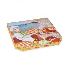 Krabice na pizzu z vlnité lepenky (PAP)  33 x 33 x 3 cm