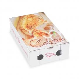Krabice na pizzu CALZONE z vlnité lepenky (PAP)  27 x 16,5 x 7,5 cm