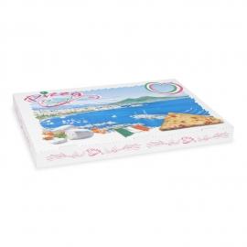 Krabice na pizzu z vlnité lepenky  (PAP)  60 x 40 x 5 cm