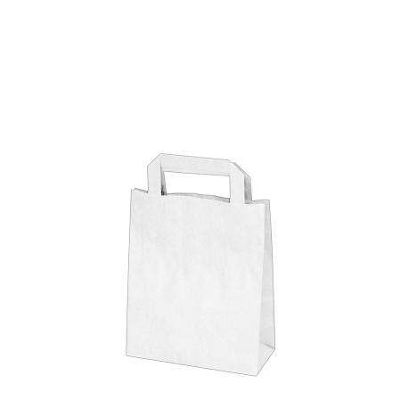 Papírové tašky bílé (PAP)  18 x 8 x 22 cm