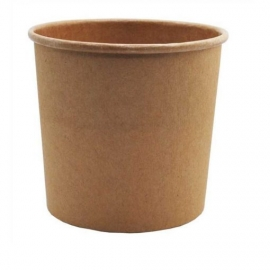 Kelímek papírový HNĚDÝ EKO 240ml na polévku/salát