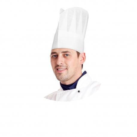 Kuchařské čepice z netkané textilie bílé 24 cm