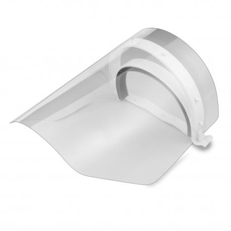 Ochranný obličejový štít, bílý (1+2ks plexiskla)
