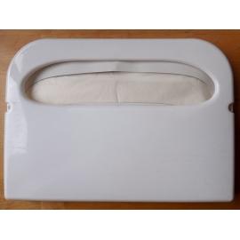 Zásobník na papírová WC sedátka - bílý plastový