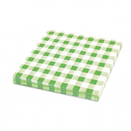 Ubrousky KARO 1vrst. (PAP) 33 x 33 cm - zelené