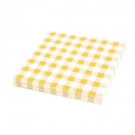 Ubrousky KARO 1vrst. (PAP) 33 x 33 cm -  žluté