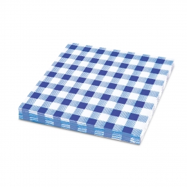 Ubrousky KARO 1vrst. (PAP) 33 x 33 cm - modré