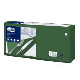 Ubrousky papírové  2vrst. 33 x 33 cm TORK -  tmavě zelené
