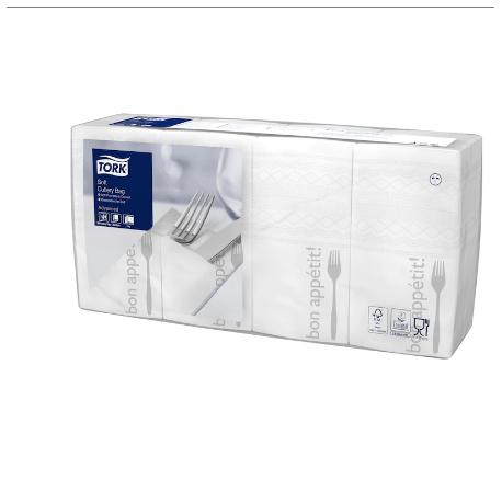 Ubrousky papírové TORK s potiskem BON APETIT na příbory