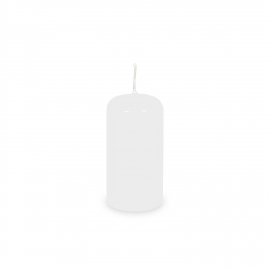 Svíčka válcová Ø 40 x 80 mm - bílá