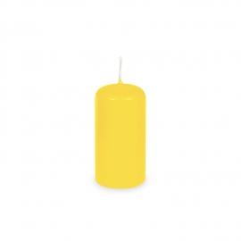 Svíčka válcová Ø 40 x 80 mm - žlutá