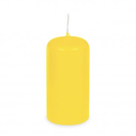 Svíčka válcová Ø 60 x 120 mm - žlutá