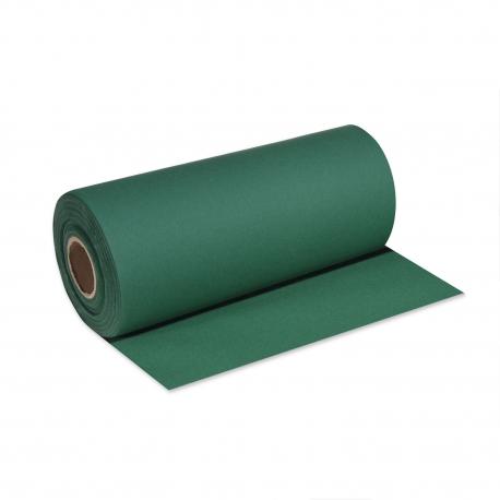 Středový pás PREMIUM rolovaný (AIRLAID) 24 m x 40 cm  - tmavě zelený
