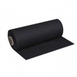 Středový pás PREMIUM rolovaný (AIRLAID)   24 m x 40 cm  - černý