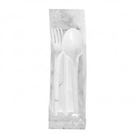 Sada (nůž + vidlička + lžíce + ubrousek) hyg. balené  (PS) + (PAP)