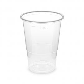 Kelímek průhledný -extra pevný- 0,25 l  (PP)  Ø 78 mm