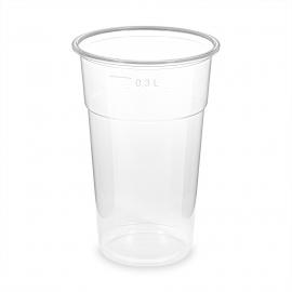 Kelímek průhledný -extra pevný- 0,3 l  (PP)  Ø 78 mm