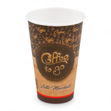 """Papírový kelímek ,,Coffee to go"""" - 420 ml - Ø 90 mm - L"""