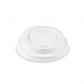 Víčko vypouklé, bílé (PS) pro/pre Ø 62 mm
