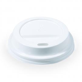 Víčko vypouklé, bílé (PS) pro/pre Ø 73 mm