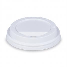 Víčko vypouklé, bílé (PS) pro/pre Ø 90 mm