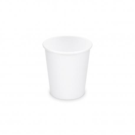 Papírový kelímek, bílý - 110 ml Ø 62 mm - XS