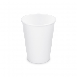 Papírový kelímek, bílý - 330 ml Ø 80 mm - L