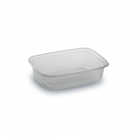Miska hranatá průhledná 125 ml  (PP)