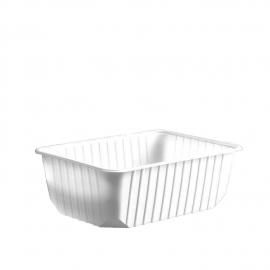 Vanička hranatá bílá 1000 ml  (PP)