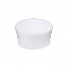 Termo-miska kulatá bílá 340 ml (EPS)
