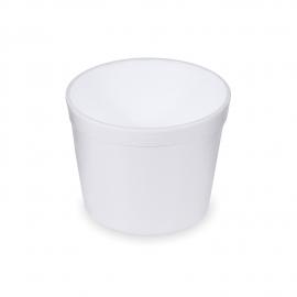 Termo-miska kulatá bílá  550 ml (EPS)