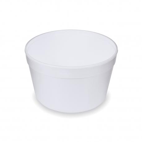 Termo-miska kulatá bílá 910 ml (EPS)