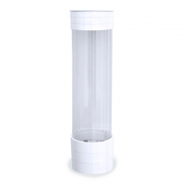 Plastový zásobník kelímků, bílý pro/pre Ø 70 mm